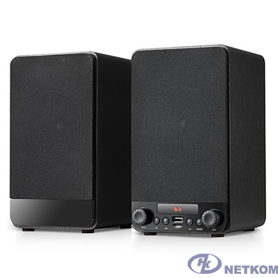 Dialog Jazz AJ-13 BLACK - акустические колонки 2.0, 2*15W RMS, Bluetooth, FM, USB+microSD reader