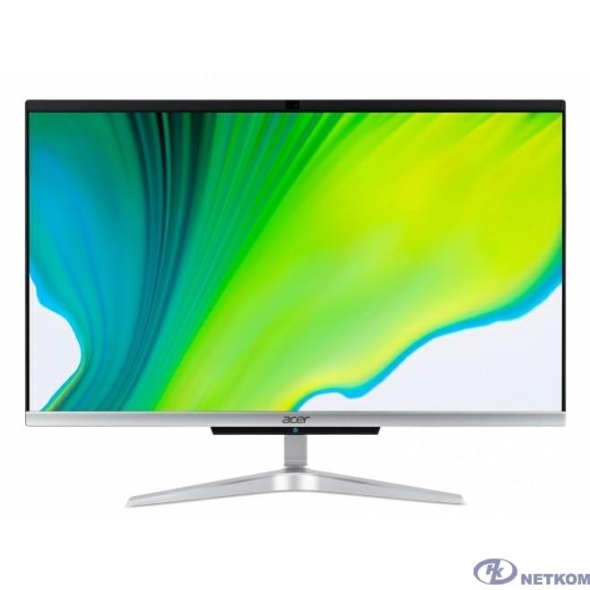 """Acer Aspire C24-420 [DQ.BG5ER.007] Silver Black 23.8"""" {FHD Athlon 3050u/8Gb/256Gb SSD/DOS/k+m}"""