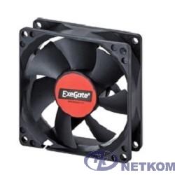Exegate EX288998RUS Вентилятор 220В ExeGate EX08025BAT (80x80x25 мм, 2-Ball (двойной шарикоподшипник), клеммы, 2600RPM, 32dBA)
