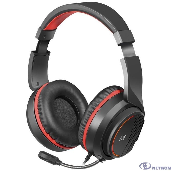 Defender Apex черный+красный, провод 1.8 м [64525]