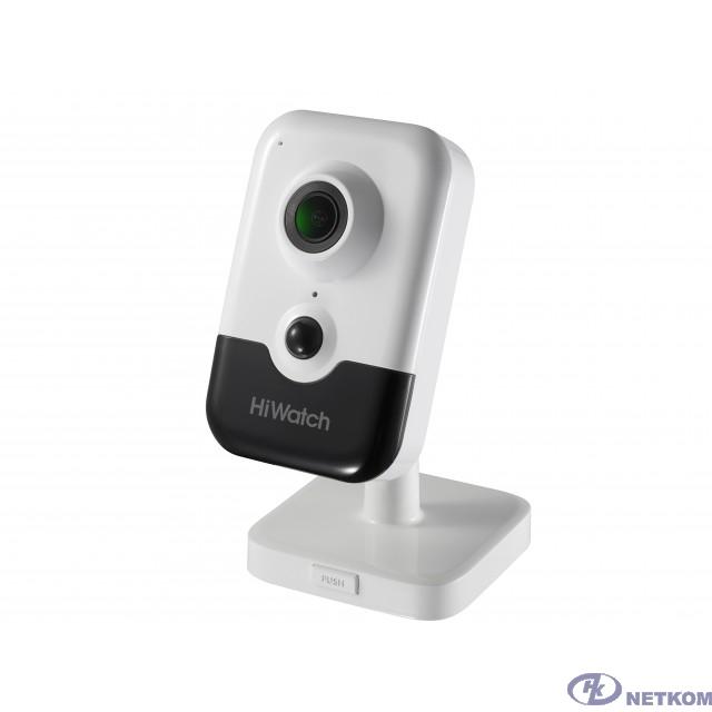 HiWatch DS-I214W(B) 2.0мм Видеокамера IP цветная корп.:белый