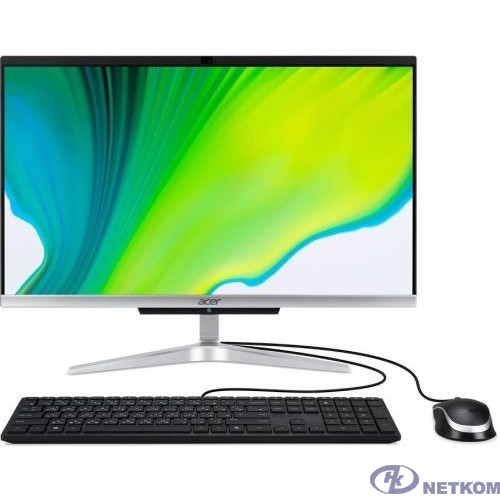 """Acer Aspire C22-420 [DQ.BG3ER.008] Silver 21.5"""" {FHD Athlon 3050U/8Gb/256Gb SSD/Linux/k+m}"""