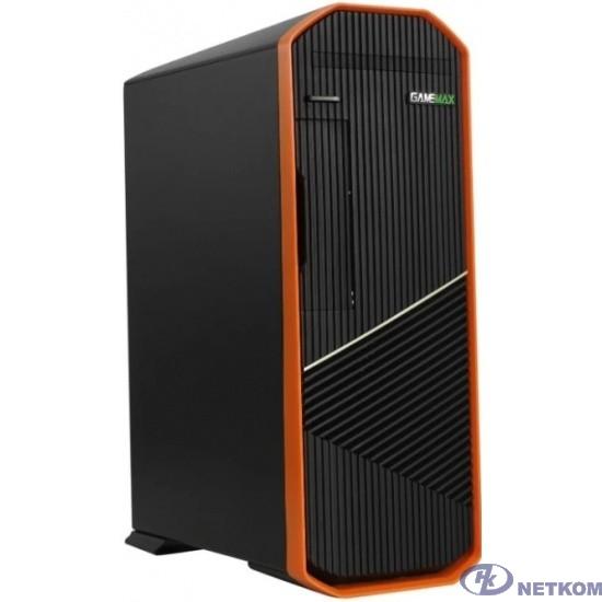 GameMax Корпус S702-O (300 W) SFF case, Черно-оранж, USB type-C, 2*USB 3.0 + CR