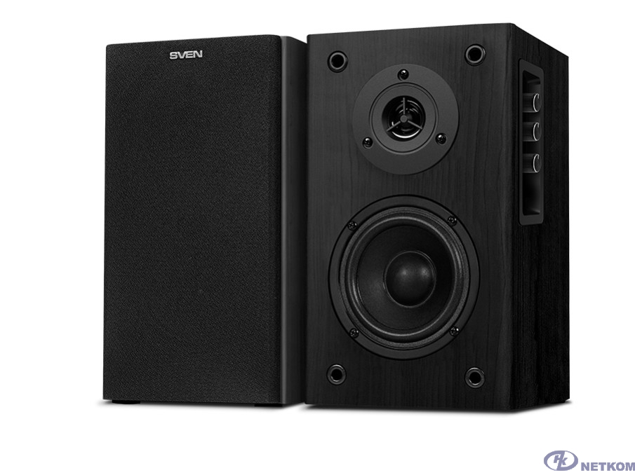 SVEN SPS-614, чёрный, акустическая система 2.0, мощность 2x20 Вт(RMS), Bluetooth