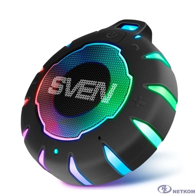 SVEN PS-95, черный, акустическая система (1.0, мощность 7 Вт (RMS), Bluetooth, встроенный аккумулятор)