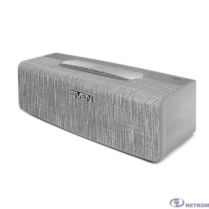 SVEN PS-195, серый (16 Вт, TWS, Bluetooth, FM, USB, microSD, NFC, 2400мА*ч)