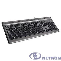 Клавиатура A-4Tech KLS-7MUU, USB, проводная с USB портом (черно-серый) [94395]