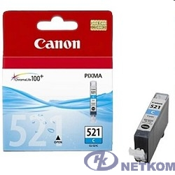 Canon CLI-521C  2934B004 Картридж для Pixma iP3600, 4600, MP540 ,MP620, MP630, MP980, голубой, 535стр.