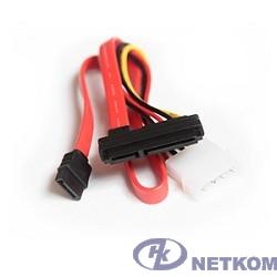 Gembird Кабель Serial ATA интерфейсный (35см) и силовой (15см) [CC-SATA-C1]