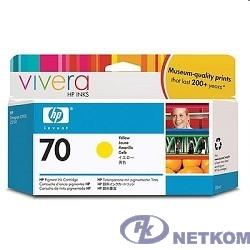 HP C9454A Картридж, Yellow, №70 {DJ Z2100/Z3100 (130 ml)}