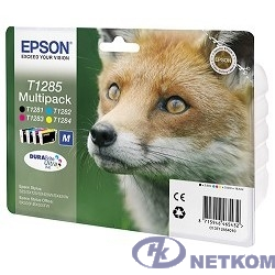 EPSON C13T12854010/12 Epson картридж для S22/SX125 (желтый,голубой,пурпурный,черный) (cons ink)