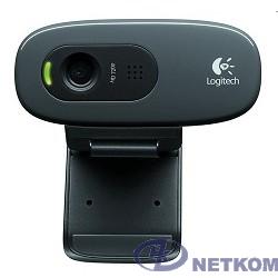 960-001063 Logitech HD Webcam C270, {USB 2.0, 1280*720, 3Mpix foto, Mic, Black}