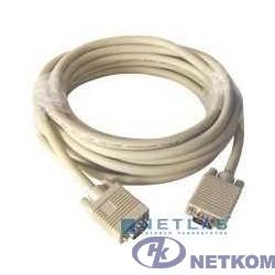 Gembird/Cablexpert CC-PPVGA-5M, Кабель VGA Premium ,  15M/15M,5.0м,  серый, тройной экран, феррит.кольца
