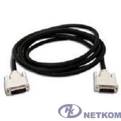 Кабель DVI-D dual link Gembird, 10м, 25M/25M, экран, феррит.кольца, пакет, черный [CC-DVI2-BK-10M]