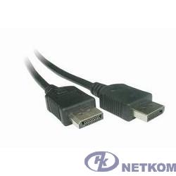 Кабель DisplayPort Gembird, 1.8м, 20M/20M, черный, экран, пакет [CC-DP-6]