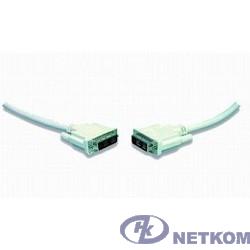 Кабель DVI-D single link Gembird, 1.8м, 19M/19M, экран, феррит.кольца, пакет [CC-DVI-6C]