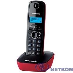 Panasonic KX-TG1611RUR (красный) {АОН, Caller ID,12 мелодий звонка,подсветка дисплея,поиск трубки}