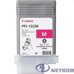 Canon PFI-102M 0897B001 Картридж для Canon imagePROGRAF iPF605, iPF610., iPF650, iPF655, iPF710, iPF755, LP17, iPF510, Пурпурный, 130 мл. (GJ)