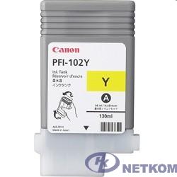 Canon PFI-102Y 0898B001 Картридж для Canon imagePROGRAF iPF605, iPF610., iPF650, iPF655, iPF710, iPF750, iPF755, LP17, iPF510, Желтый, 130 мл.(GJ)