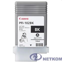Canon PFI-102Bk 0895B001 Картридж для Canon iPF605/ iPF610/ iPF650/ iPF655/ iPF710/ iPF750/ iPF755/ LP17/ iPF510, Чёрный, 130 мл.(GJ)