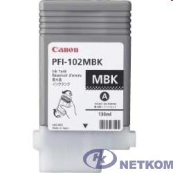 Canon PFI-102MBk 0894B001 Картридж для Canon iPF500/600/700, Матовый Черный, 130 мл. (GJ)