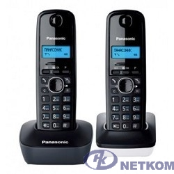 Panasonic KX-TG1612RU1 {Доп трубка в комплекте,АОН, Caller ID,12 мелодий звонка,поиск трубки}