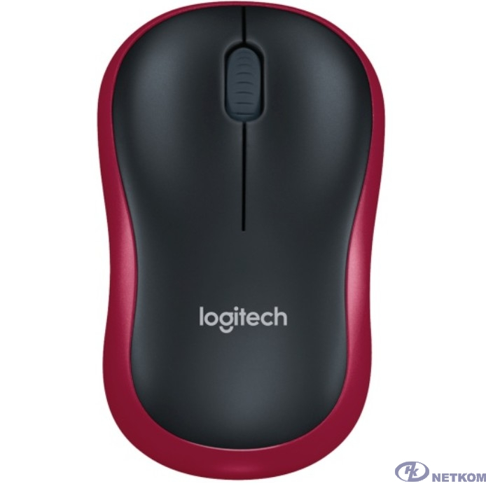910-002240 Logitech Wireless Mouse M185 dark red USB