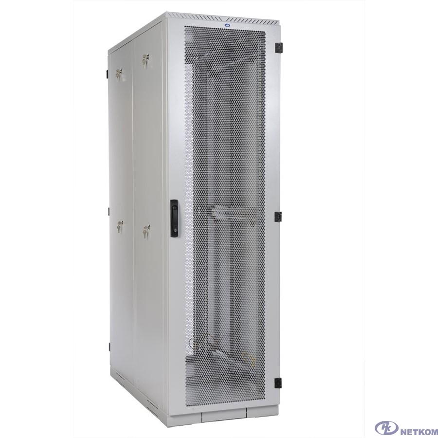 ЦМО Шкаф серверный напольный 42U (600x1000) дверь перфорированная, задние двойные перфорированные (ШТК-С-42.6.10-48АА) (4 коробки)