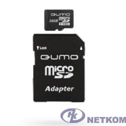Micro SecureDigital 16Gb QUMO QM16(G)MICSDHC10 {MicroSDHC Class 10, SD adapter}