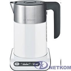 BOSCH TWK8611P Чайник, 2400Вт, бело-серебристый, терморегулятор, 4 температурных режима