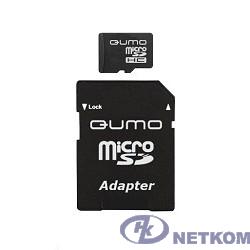 Micro SecureDigital 8Gb QUMO QM8GMICSDHC10 {MicroSDHC Class 10, SD adapter}