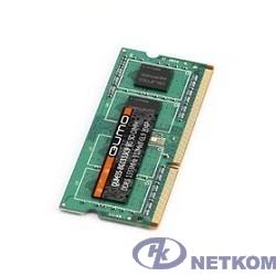 QUMO DDR3 SODIMM 4GB QUM3S-4G1333K(D)9(R)/C9(L) PC3-10600, 1333MHz