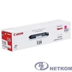 Canon Cartridge 729M  4368B002 Тонер картридж для LBP 7010C, Пурпурный, 1000стр. (GR)