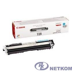 Canon Cartridge 729C  4369B002 Тонер картридж для LBP 7010C, Голубой, 1000стр. (GR)