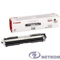 Canon Cartridge 729Bk  4370B002 Тонер картридж для LBP 7010C, Черный, 1200стр. (GR)