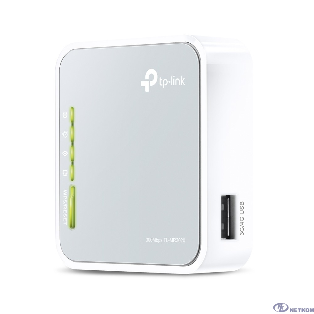 TP-Link TL-MR3020 N300 3G/4G Портативный Wi-Fi роутер