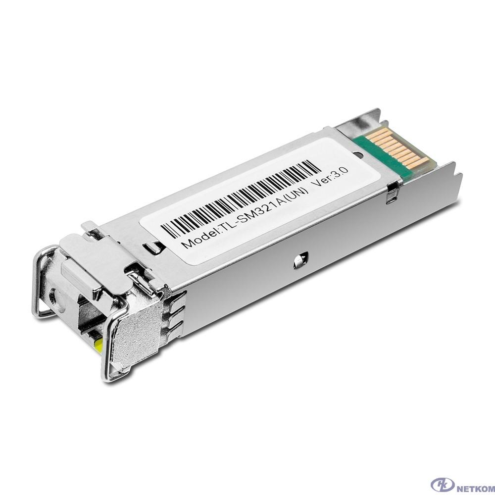 TP-Link TL-SM321A 1000Base-BX WDM двунаправленный SFP модуль 20км