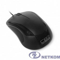 CBR CM-100 Black USB, Мышь 1200dpi, офисн., провод 1.3 метра