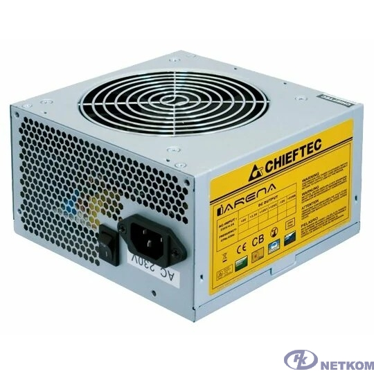 Chieftec 500W OEM [GPA-500S8] {ATX-12V V.2.3 PSU with 12 cm fan, Active PFC, ficiency >80% 230V only}