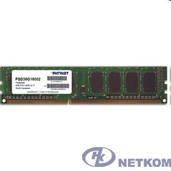Patriot DDR3 DIMM 8GB (PC3-12800) 1600MHz PSD38G16002