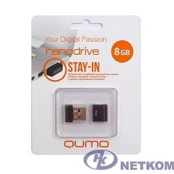 USB 2.0 QUMO 8GB NANO [QM8GUD-NANO-B] Black